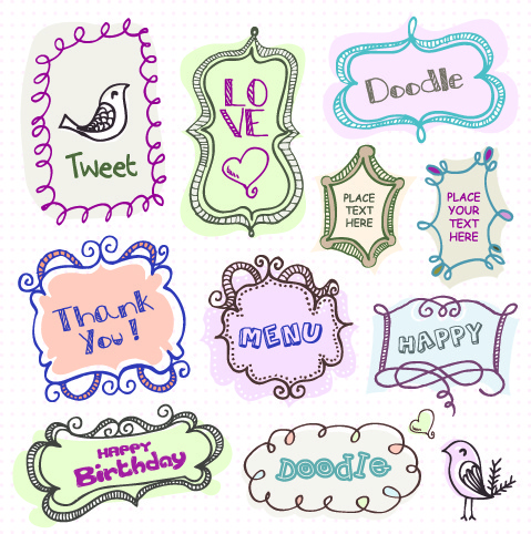 cute baby hand drawn frames vector free vector in encapsulated