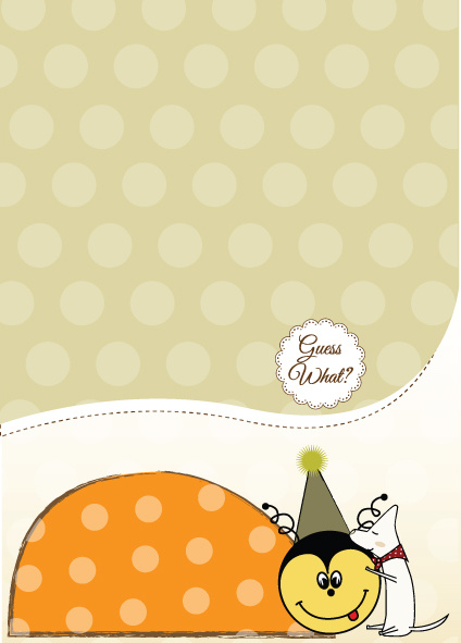 cute baby style postcard design vector