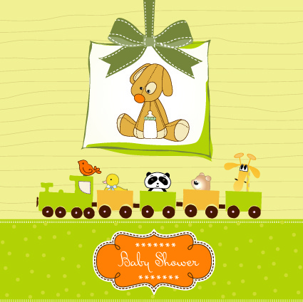cute baby vector backgrounds set