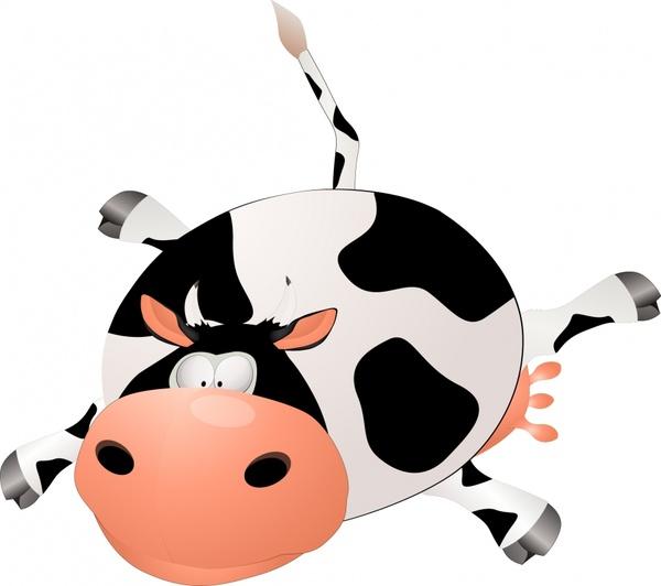 milk cow icon funny cartoon sketch