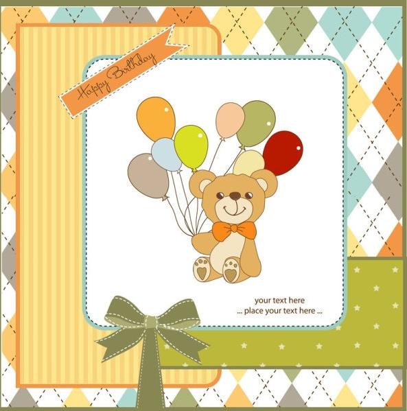 cute cartoon background 01 vector