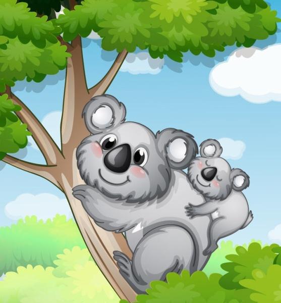 cute cartoon background 02 vector