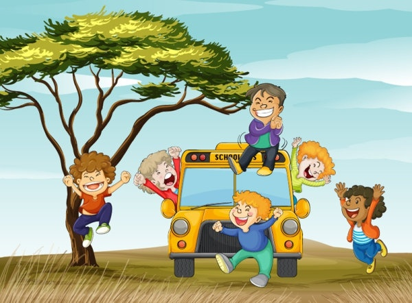 cute cartoon background 03 vector