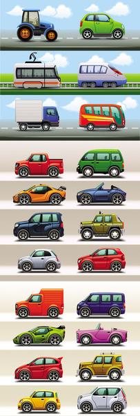 cute cartoon car creative vector