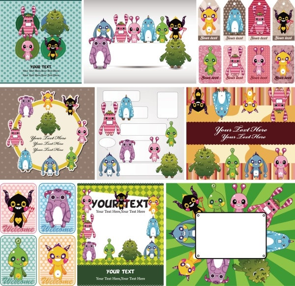 cute cartoon children39s illustrator 03 vector