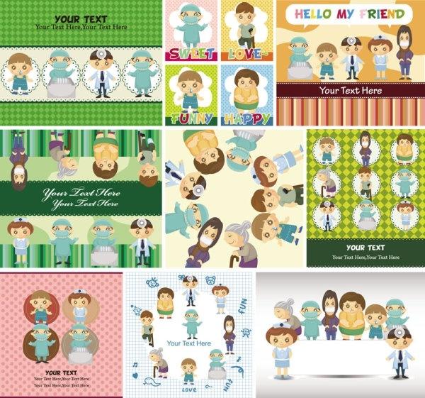 cute cartoon children39s illustrator 04 vector