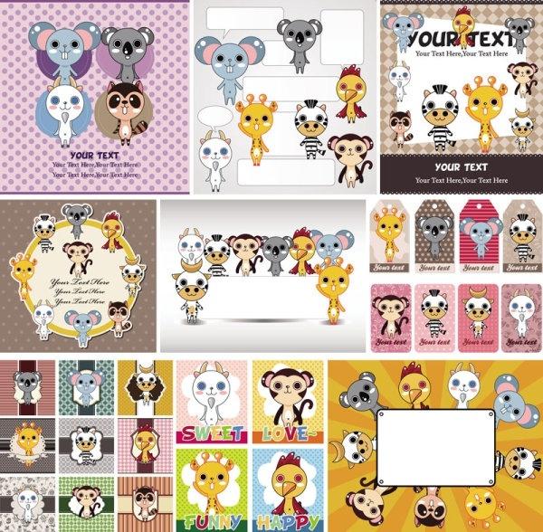 cute cartoon children39s illustrator 05 vector