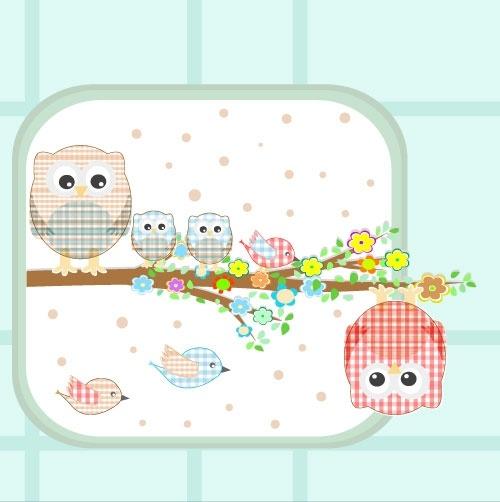 cute cartoon illustration 02 vector