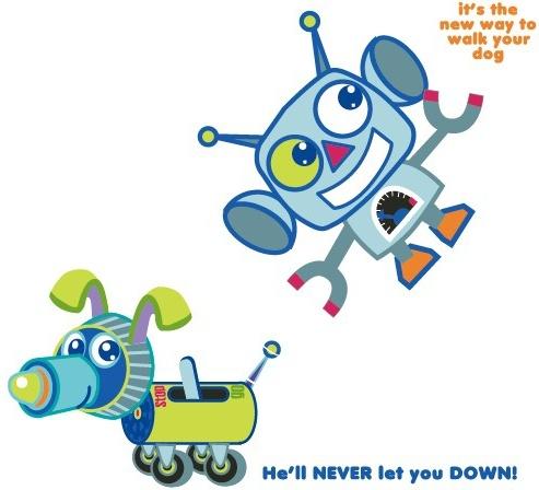 Cute Cartoon Robot Vector Free Vector 133.01KB