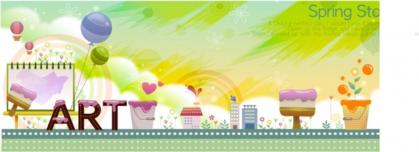 card background cute colorful paint work decor