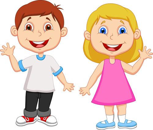cute children student design vector