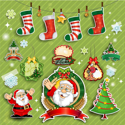 Christmas Decorations Clip Art Free Vector Download