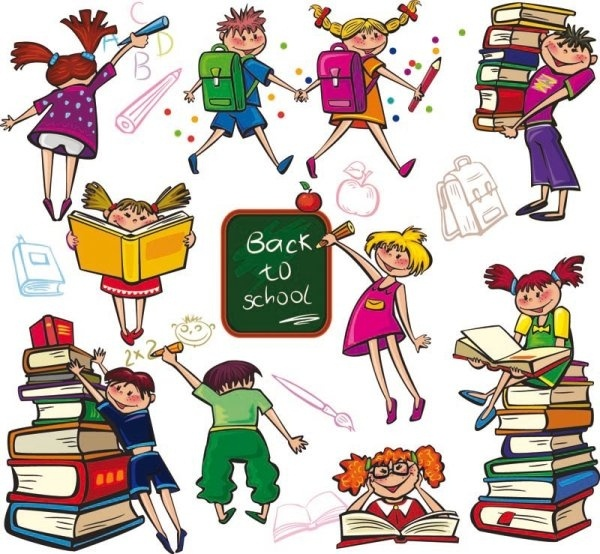 cute colorful cartoon boys and girls 01 vector image