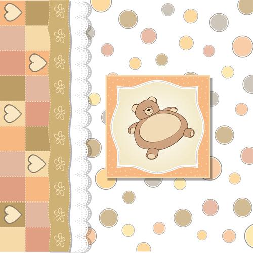 cute cubs baby card vector