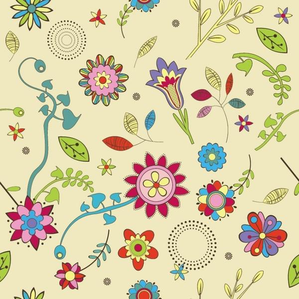 Cute Flowers Wallpaper Pattern