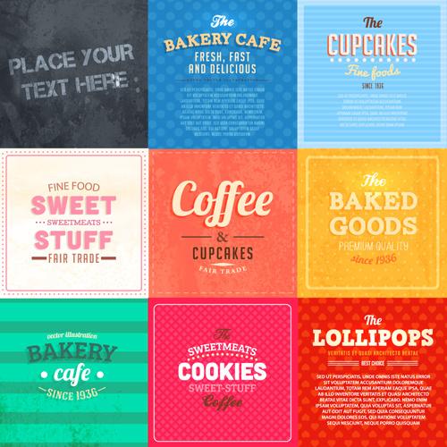 Cute food labels design vector Free vector in Adobe