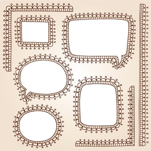 cute hand drawn framework vector