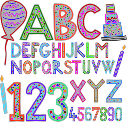 cute holiday letters and numbers design vector free vector in adobe