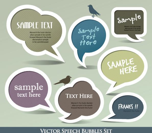 cute speech bubbles for you text vector