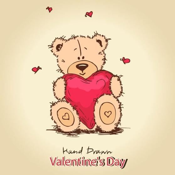 cute teddy bear background 01 vector