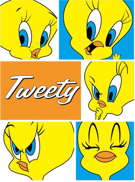 cute tweety cartoon vector