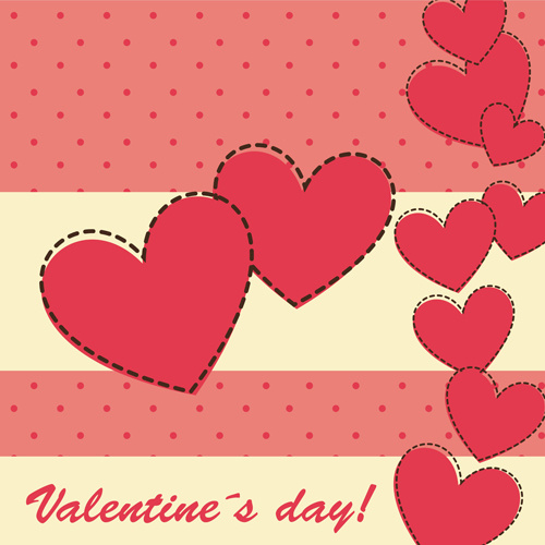 cute valentine day card vector free vector in encapsulated