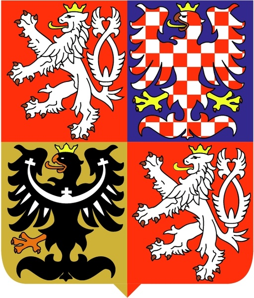 Czech republic national emblem Free vector in Encapsulated