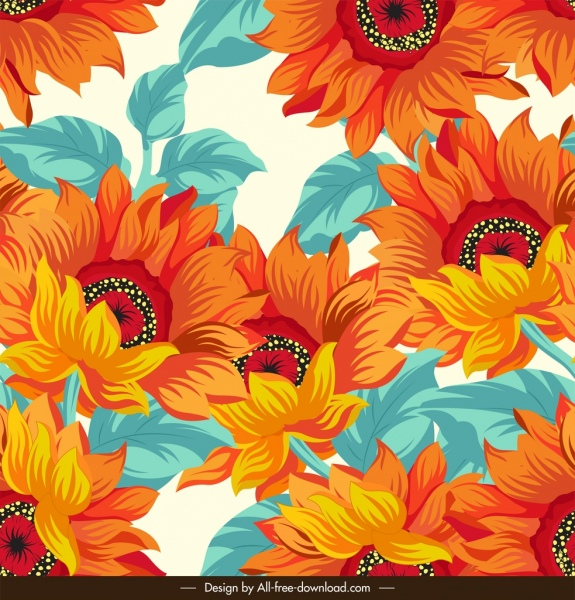 daisy pattern colorful classical decor