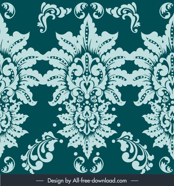 damask pattern elegant classic symmetric flower decor