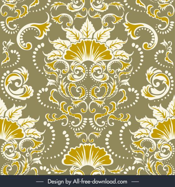 damask pattern elegant traditional flower decor symmetric design
