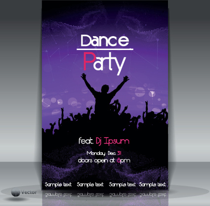 dance party flyer cover template vector free vector in encapsulated