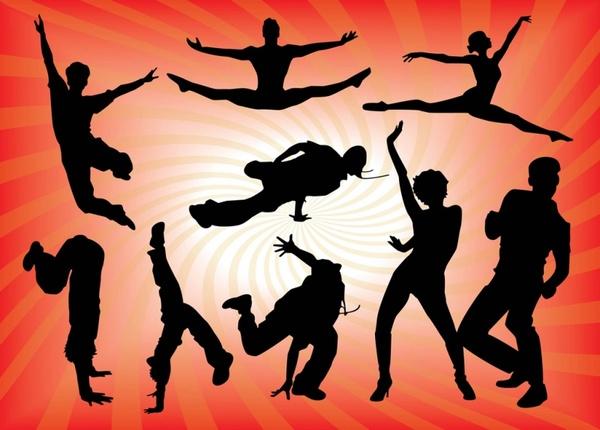 dancing people vector graphics free vector in adobe illustrator ai