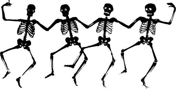 dancing skeletons clip art free vector in open office drawing svg rh all free download com skeleton clipart easy skeleton clipart images