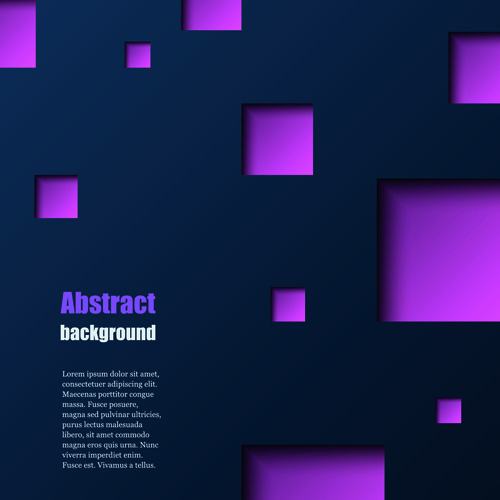 dark blue background with square vector