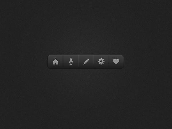 Dark Icon Dock