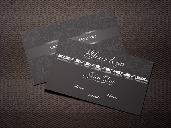 Dark Jewelry Business Card Free Template Free Vector In Adobe