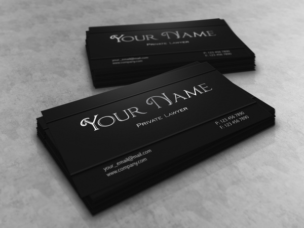 Dark lawyer business card template free vector in adobe illustrator dark lawyer business card template fbccfo Images
