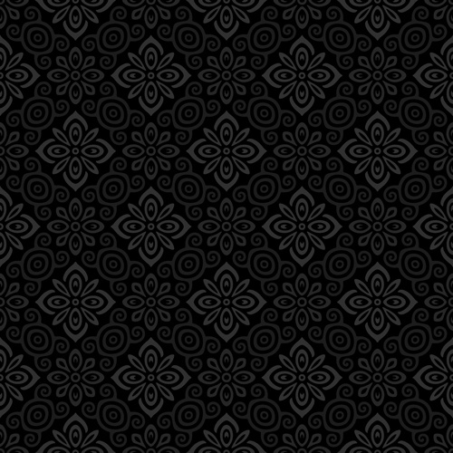 dark ornate floral seamless pattern vector