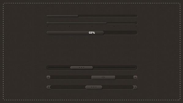Dark Sliders PSD Pack