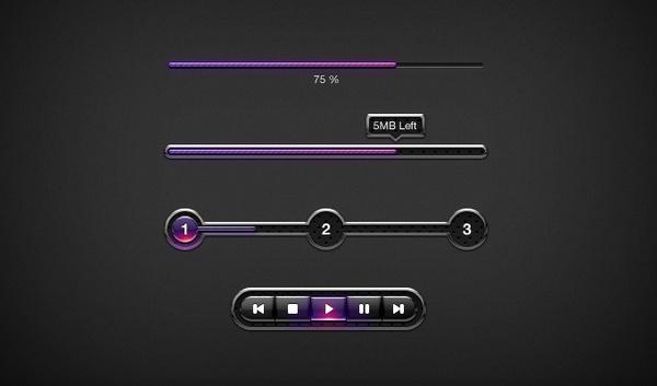 Dark UI Elements