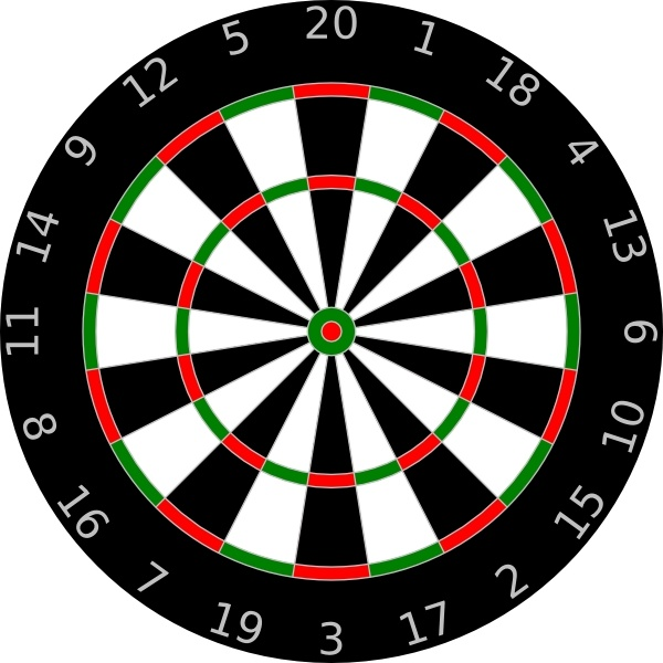 dartboard clip art free vector in open office drawing svg ( .svg