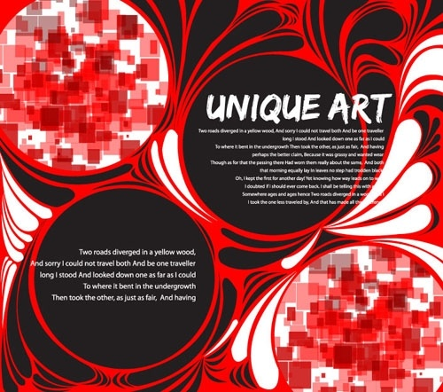 dazzling shades of red mosaic pattern vector