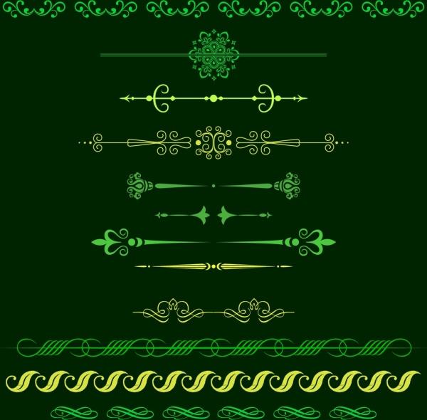 decoration design elements classical gentle symmetric style