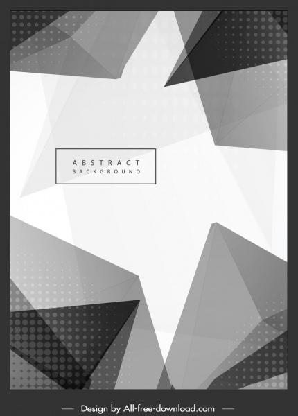 decorative background black white 3d geometric decor