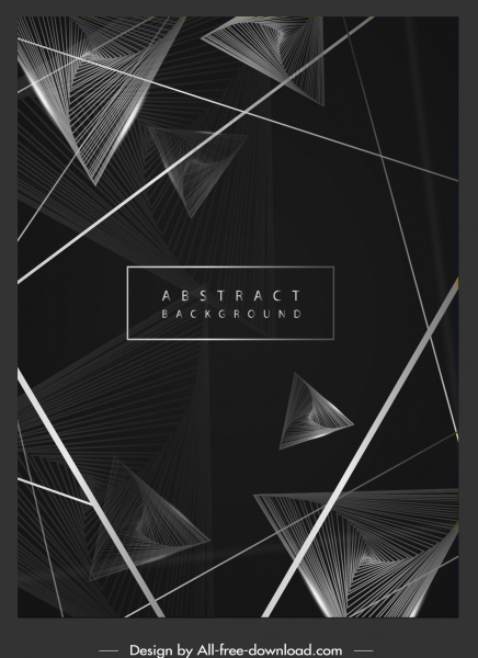 decorative background black white dynamic 3d geometric decor
