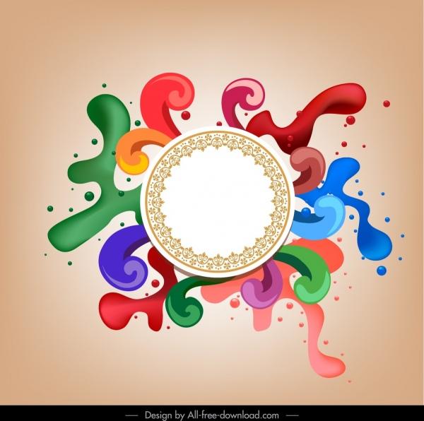 decorative background circle swirled splashed paint colors decor