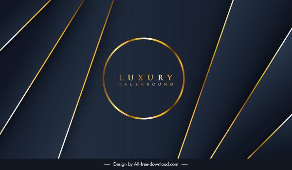decorative background luxury golden dark lines circle decor