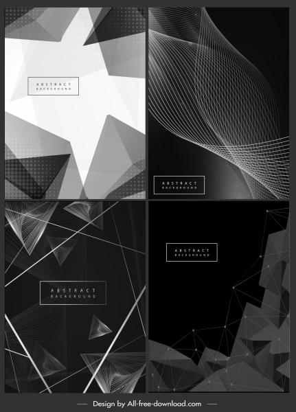 decorative background modern black white dynamic 3d