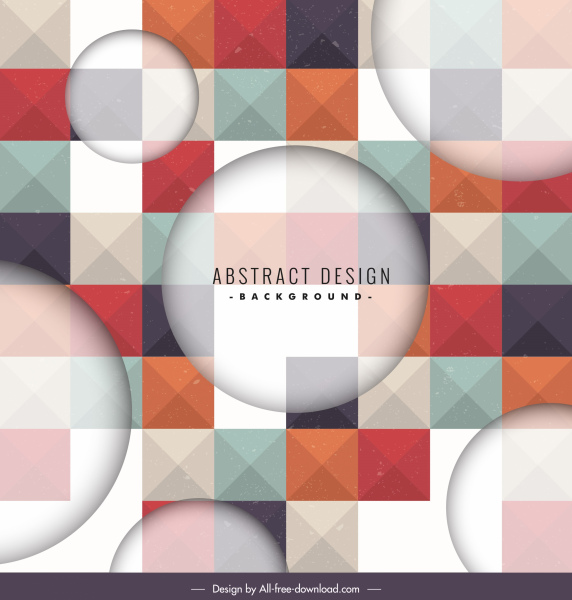 decorative background modern blurred geometric square polygon decor