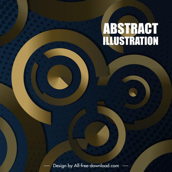 decorative background modern shiny golden circles decor